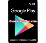 Google Play Gift Card $30