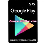 Google Play Gift Card $45