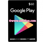 Google Play Gift Card $60