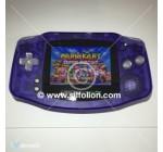 Gameboy Advance GBA Backlight Mod Nintendo Purple Clear Theme