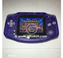 Gameboy Advance GBA Backlight Mod Nintendo Purple Clear Theme