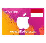iTunes Gift Card Indonesia Add Fund 50rb