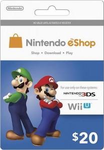 Nintendo eShop $20