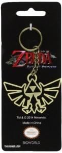 Zelda Metal Triforce Symbol Keychain